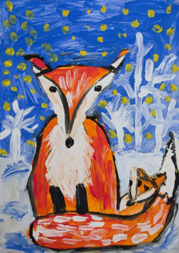 2. Laura Bauerová, 5 let - Liška v zimě (1)