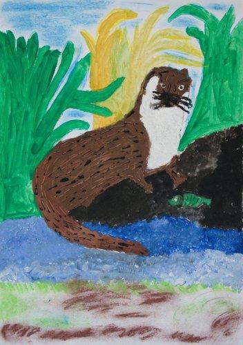 4. Eliáš Otáhal, 8 let - Vydra na lovu