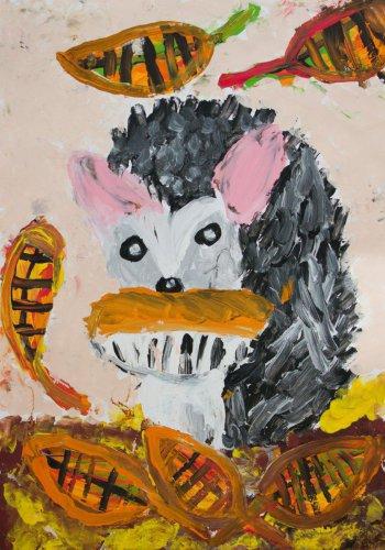 5. Viktorie Egerová, 6 let-  Ježek na podzim