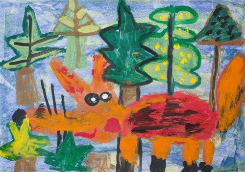 7. Justýna Knap, 5 let -Liška na lovu