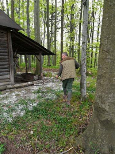 Údržba krmných zařízení – Tichá u Frenštátu pod Radhoštěm, MS Hubert Tichá